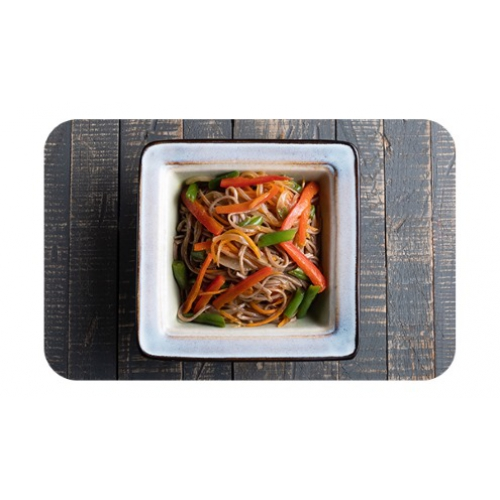 Лапша гречневая «соба» с овощами